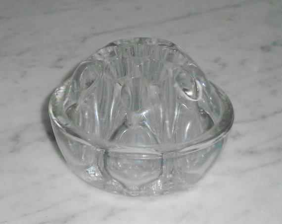 vintage 13 hole cambridge clear glass flower frog 3 1 2 inch. Black Bedroom Furniture Sets. Home Design Ideas