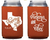 Cheers Y'all Personalized Can Coolers & Huggies - Wedding Favors