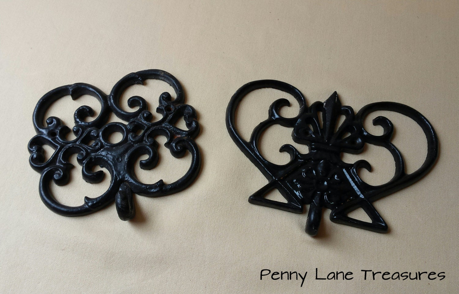 Vintage Cast Iron Decorative Wall Hooks Rustic Home Decor