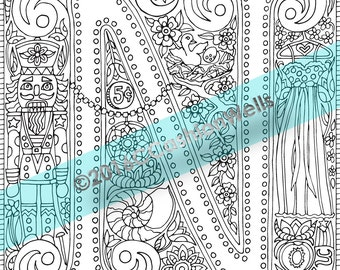 adult coloring book page alphabet letter n by cashion relaxation stress therapy nutcracker nightgown physical bristol