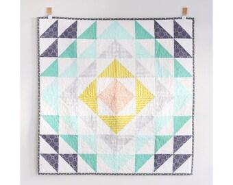 Harper's Baby Blues Modern Quilt Blanket