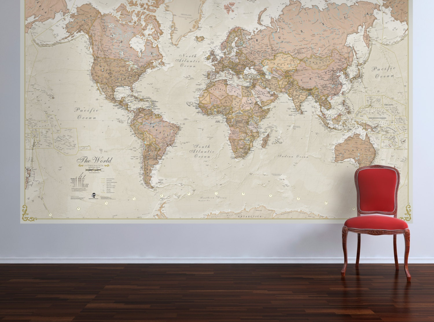 World Map Home Decor World Map Etsy