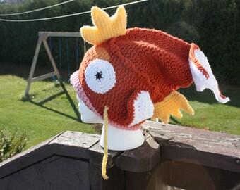 CROCHET PATTERN: Magikarp Slouchy Hat