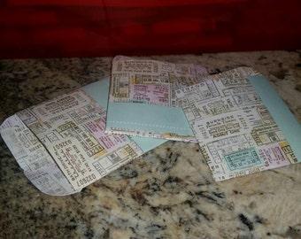 Map Print Mini Envelopes
