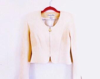 1970s Vintage Dior Cream Jacket Size 6