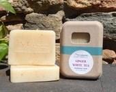 Ginger White Tea Soap - Tea Gifts - Cold Process Soap - Tea Soap - Bergamot Soap - Gift For Mom - White Tea - White Tea Skincare - Body Soap