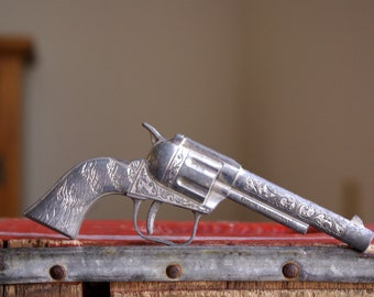 Vintage Toy Esquire Metal Cap Gun Pistol
