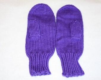 Iris Purple Mittens for Kids - Girls Mittens - Purple Mittens for Children - Childrens Purple Mittens - Kids Purple Knit Mittens