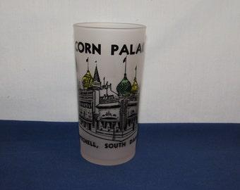Souvenir Glass Federal CORN PALACE Mitchell South Dakota Federal Glass