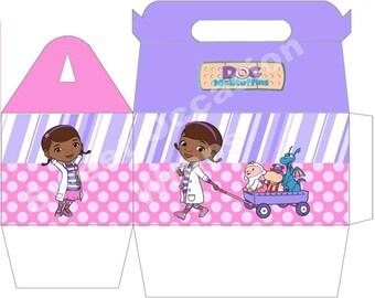 DOC McStuffins Gable Party Favor Gift Boxes Set of 12