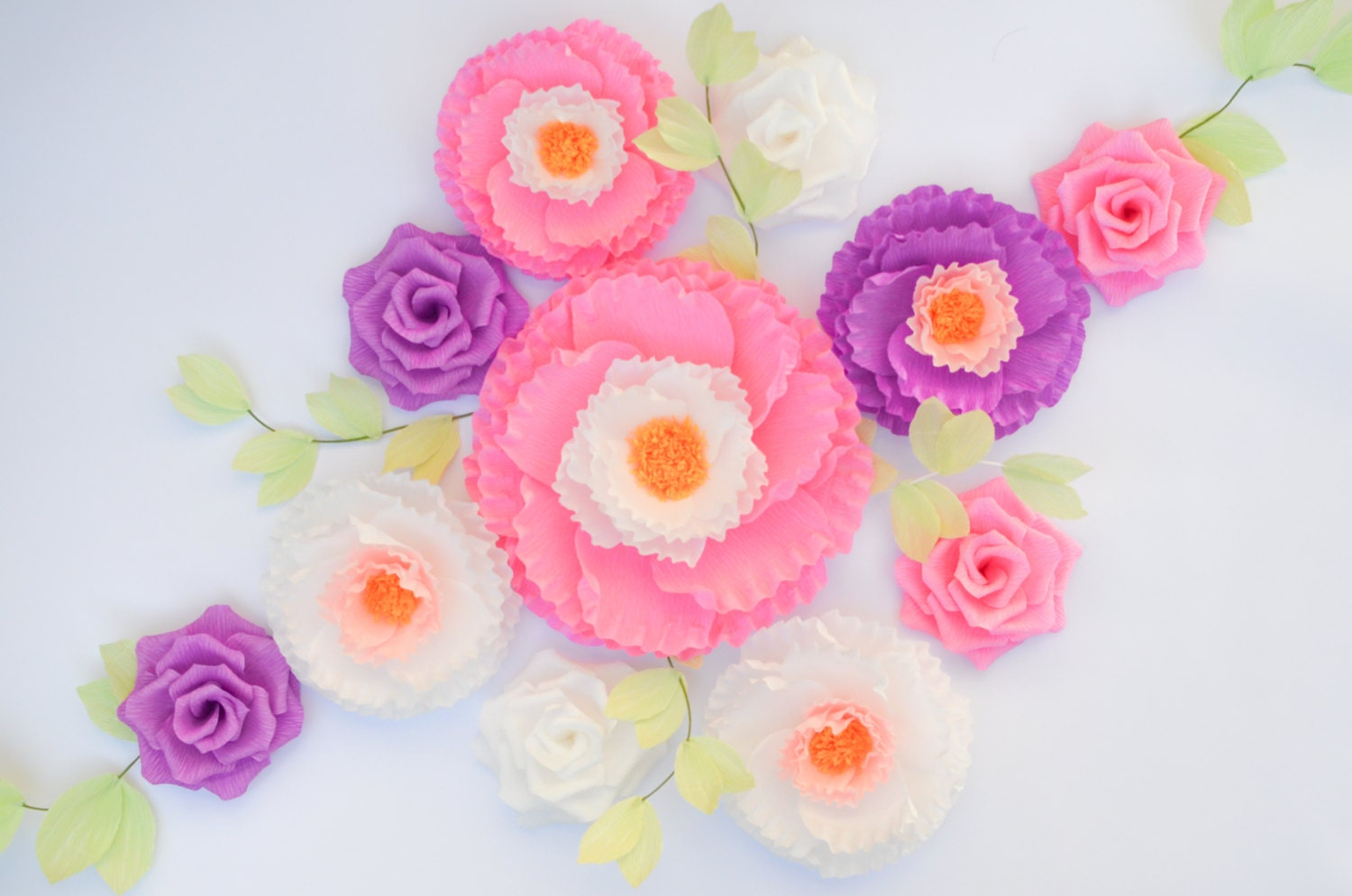 11 Paper Flowers Wall Flowers Arch Flowers Wedding Decoration