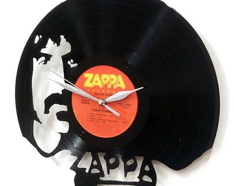 Frank Zappa Wall Art -Vinyl LP Record Clock or Framed Vinyl-Great Rock'n'Roll Gift ,Vinyl Wall Clock,Wall records clock