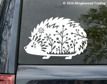 "Hedgehog - Vinyl Decal Sticker - Desert African Pygmy Daurian Sonic 6"" x 4"" *Free Shipping*"