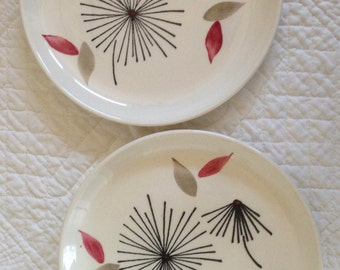 Mid-century Appetizer Plates - Set of 2