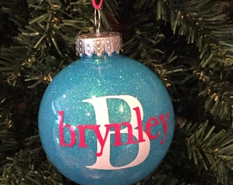 Personalized Christmas tree ornament, personalized ornament, ornaments for kids, shatterproof ornaments, dated 2017 ornaments