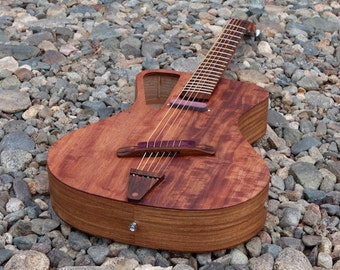 Raulo Electro/Acoustic Steel String Guitar Hand Made Fanned Fret (multiscale)