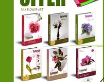 Silk / fabric flower tutorials using genuine professional tools /PDF ebook/