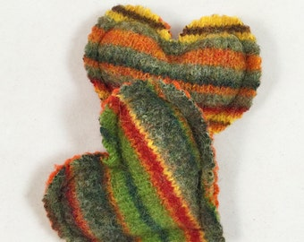 Hand Warmers, Pocket Warmers, Sachet. Recycled Wool, Reusable, Microwavable