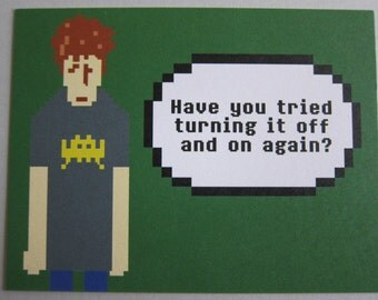 IT Crowd - Turn it off & on again Postcard