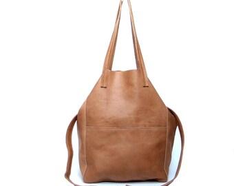 Austraalia soft camel leather bag -