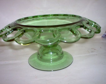 Imperial[?] transparent green compote serving bowl