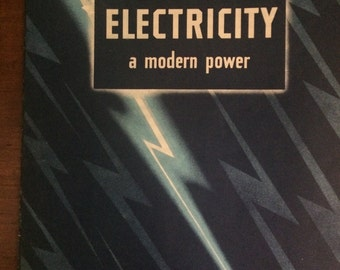 1942 Our America: Electricity-A Modern Power (Sticker Book by COCA-COLA)