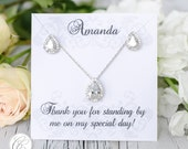 Earring Pendant Bridesmaid Set |  Bridesmaid Gifts  | Bridesmaid Earrings | Personalized Bridesmaids
