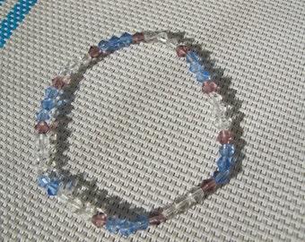 4mm Multi Color Crystal Elastic Bracelet A7