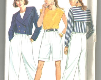 UNCUT 6252 New Look Sewing Pattern Jacket Top Shorts Trousers size 8 to 18 Vintage