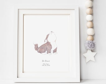 nursery wall art, wolf print, baby art decor, animal illustration, cute drawing for children, gift for baby shower, picture for babys room,