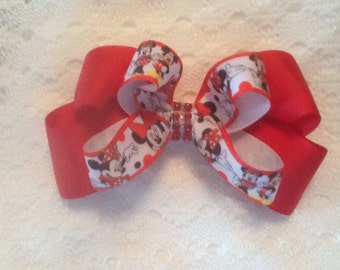 Handmade Red Minnie Mouse Hair Bow