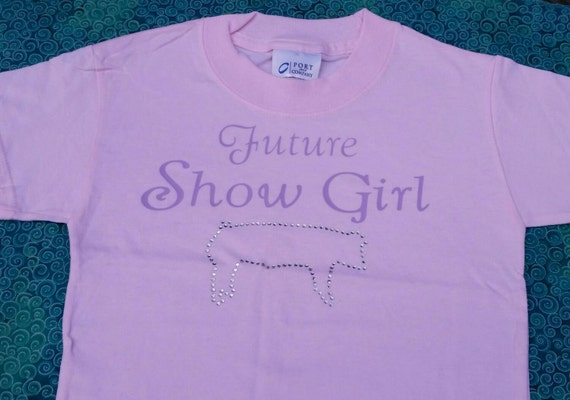 Pig shower t-shirt - future show girl livestock tshirt - future hog show girl - livestock shower - stock yard pig shirt - 4H shirt