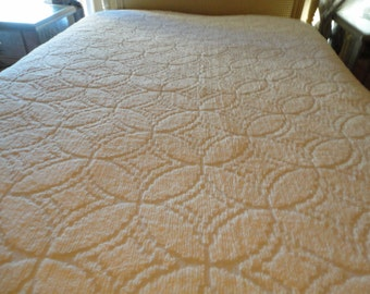 Vintage White Chenille Bedspread