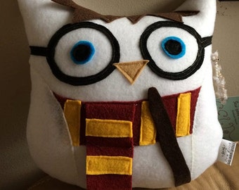 Harry Potter Owl Plushie- Inspired by Harry Potter- Plush Harry Potter Owl- White