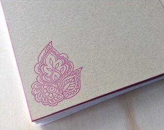 vintage inspired flat note cards and envelopes, india inspired flower, stationery set