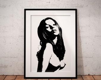 Kate Moss poster print Supreme Art Poster print wall art decor