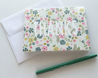 Spring Floral Thank You Cards (set of 10) | Blank Note Cards | A6 Thanks Note Cards