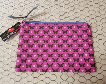 Zipper pouch, Cosmetic bag, Pencil case, Butterflies
