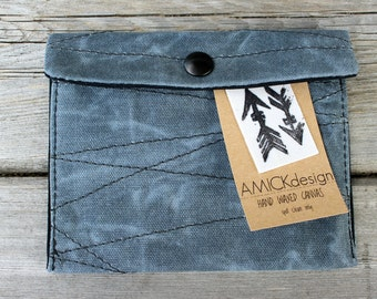 Waxed Canvas Pouch, Waxed Canvas Wallet, Waxed Canvas Passport Wallet, Waxed Canvas Purse Organizer,Waxed Canvas Travel Organizer