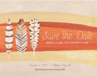 Feather Save the Date
