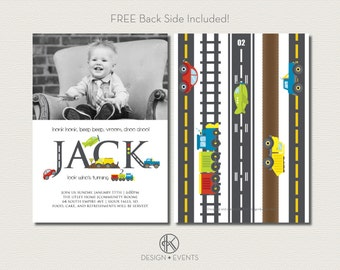 Transportation Party Invitations - Printable Planes, Trains and Automobiles Invitation