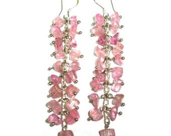 Tourmaline Earrings Russia Malkhan 7.5cm 9g