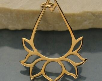 Natural Bronze Lotus Jewelry Pendant