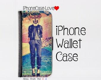 iPhone 6 Plus Case - iPhone 6 Plus Wallet Case - iphone 6 Plus - iPhone 6 Plus Wallet - Lioness