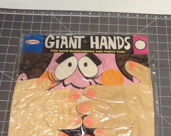 vintage novelty giant ruber hands in original package