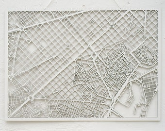 3d city map BARCELONA, 73x53cm