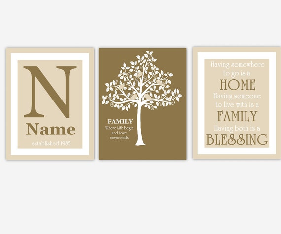 items similar to family tree wall art personalized family. Black Bedroom Furniture Sets. Home Design Ideas