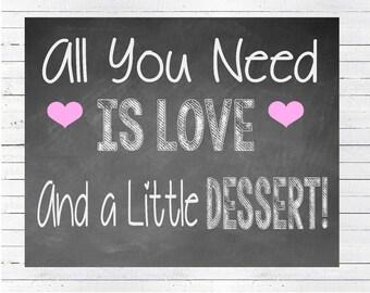 INSTANT DOWNLOAD Dessert Sign, Wedding Dessert Table, Cake Table Sign