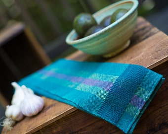 Tea towel, kitchen towel, guest towel, hand woven, handmade towels, recycled cotton, LIMITED EDITION!