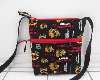 Chicago Blackhawks Crossbody Bag, Hobo Bag, Hipster Bag, NHL Crossbody Bag